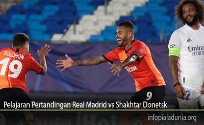 Pelajaran Pertandingan Real Madrid vs Shakhtar Donetsk